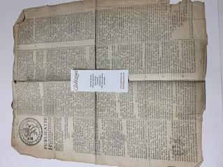 MEDISCH, APOTHEEK--- Publicatie van het staatsbewind der Bataafsche Republiek, d.d. 25-2-1805 betr. het gebruik van de Pharmacopea Batava. Plano, 1 blad, gedrukt.