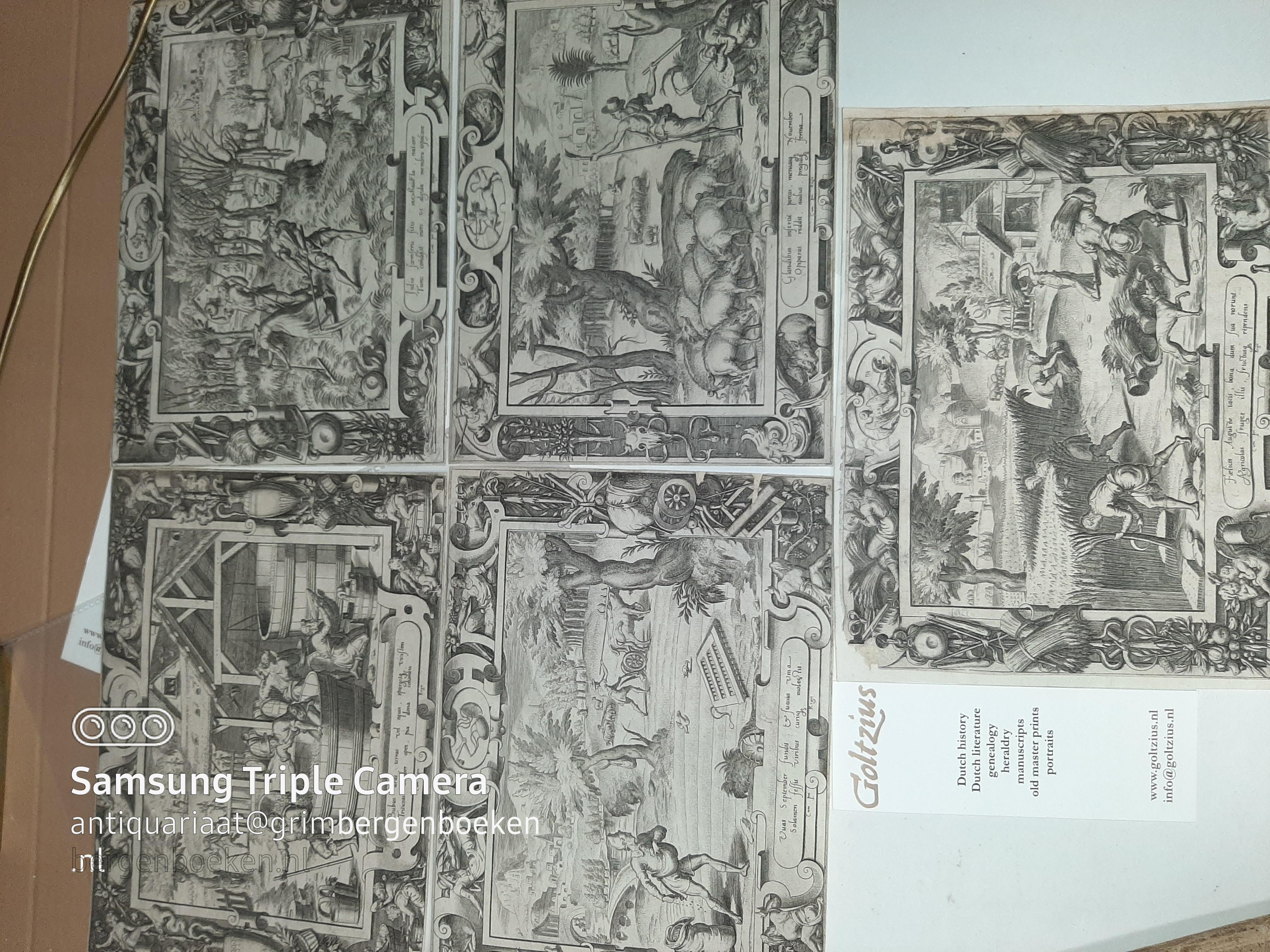 Delaune, Etienne (1518-1595) Première Suite des Mois de l'Année [The twelve months]