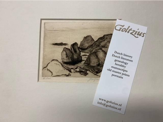 Johannes Mattheus Graadt van Roggen, (1867- 1959) Coastal landscape Rochers Rouges Riviera 1928-1929