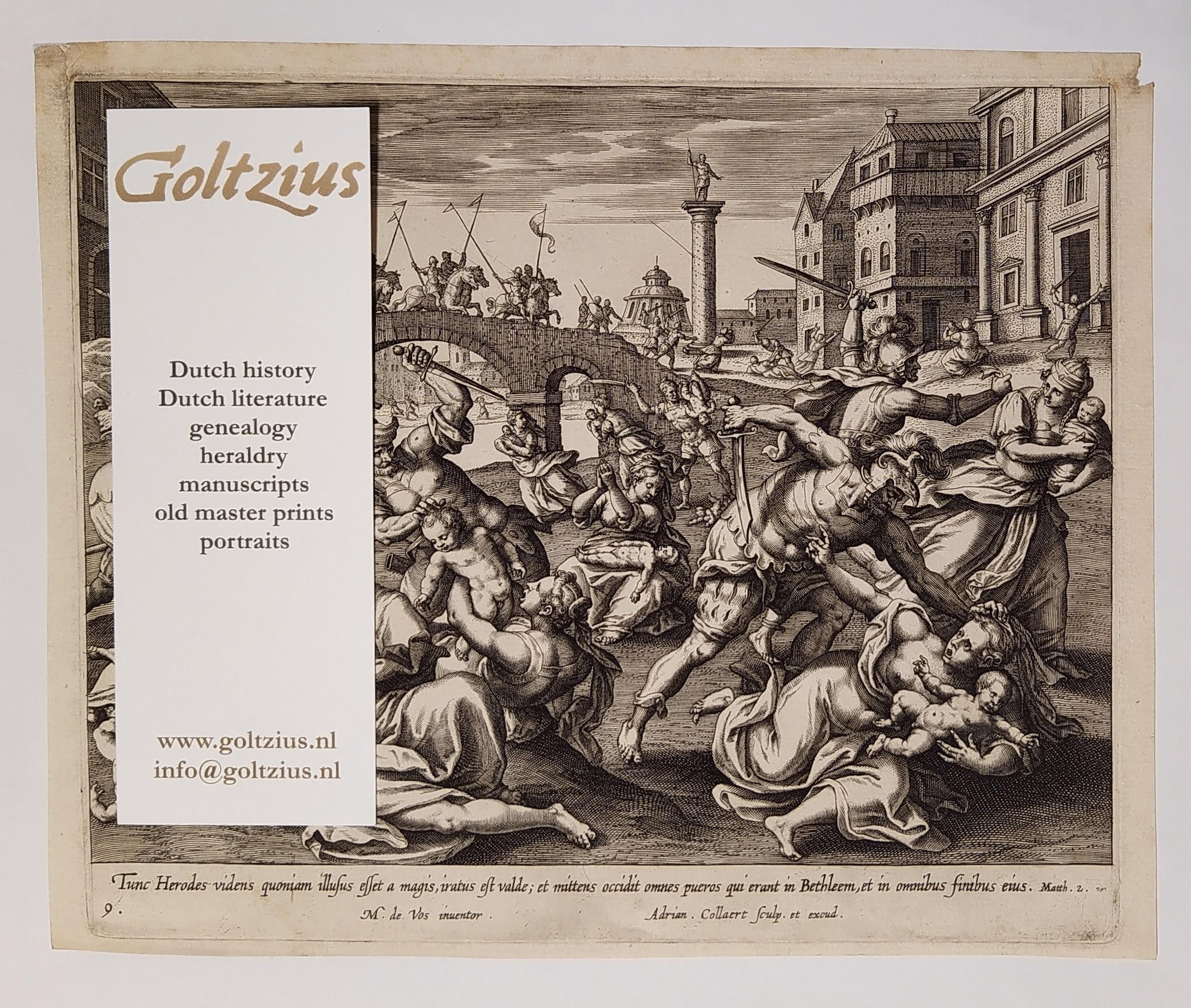 Collaert, Adriaen (c.1560-1618) after Vos, Maarten de (1532-1603) The Massacre of the Innocents
