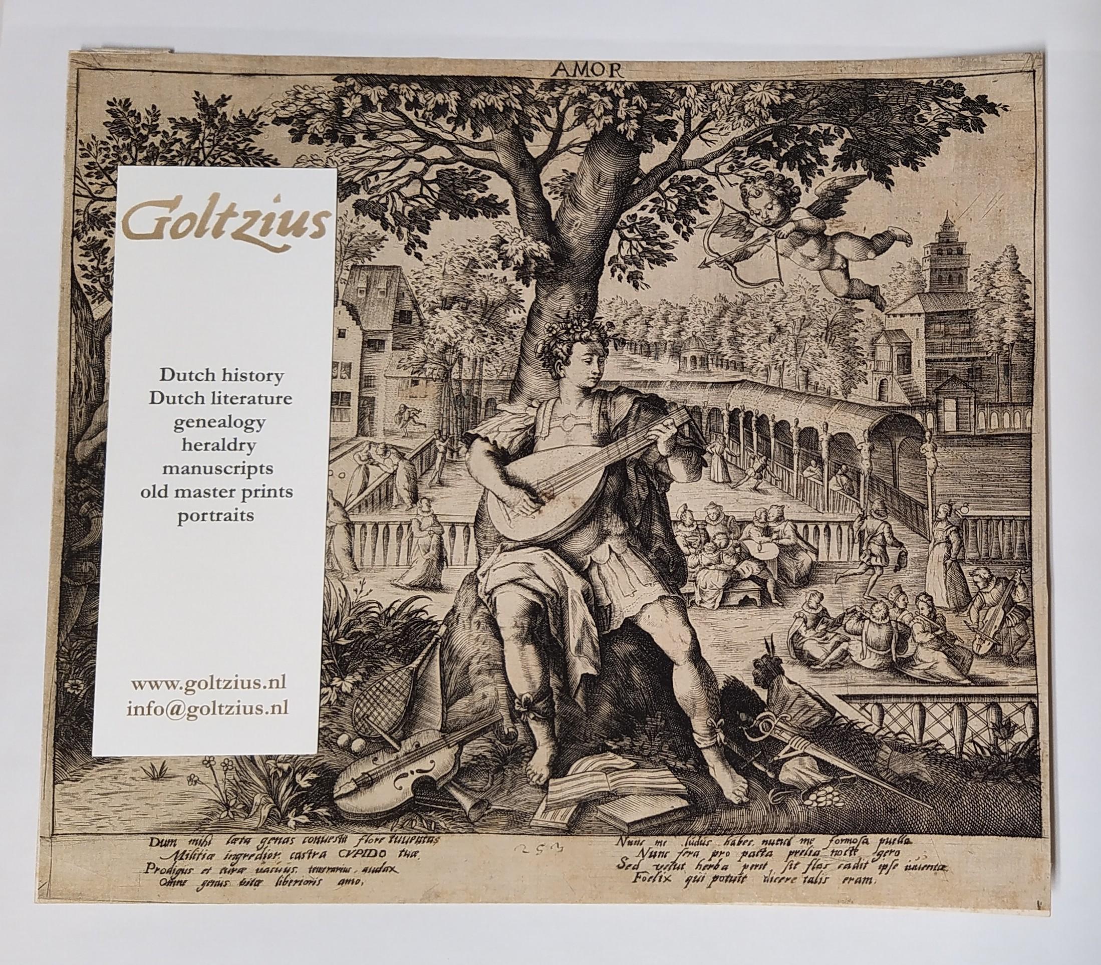 copy after Vos, Maarten de (1532-1603) after Sadeler, Raphael I (1560-1632) AMOR (four allegorical prints)