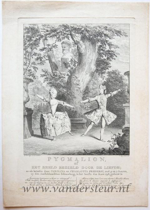 Pygmalion, of het beeld bezield door de liefde : zo als hetzelve door Carolina en Charlotta Frederic, oud 9 en 7 Jaaren, op den Amsteldamschen Schouwburg, in het laatfte des Jaars 1758.