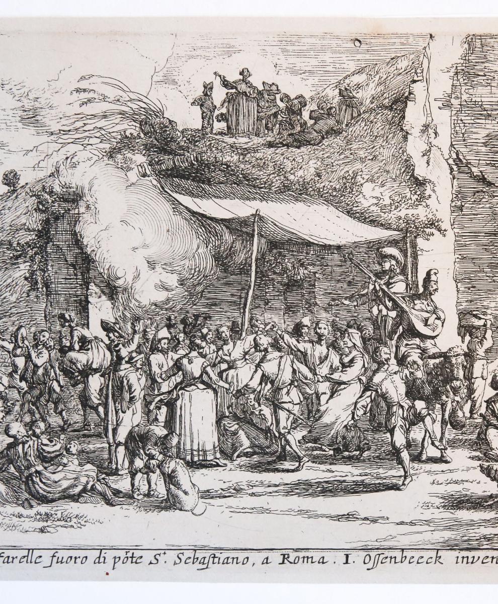 La Cafarella; Prospetto e veduto a Cafarelle fuoro di Porte S. Sebastiano a Roma.