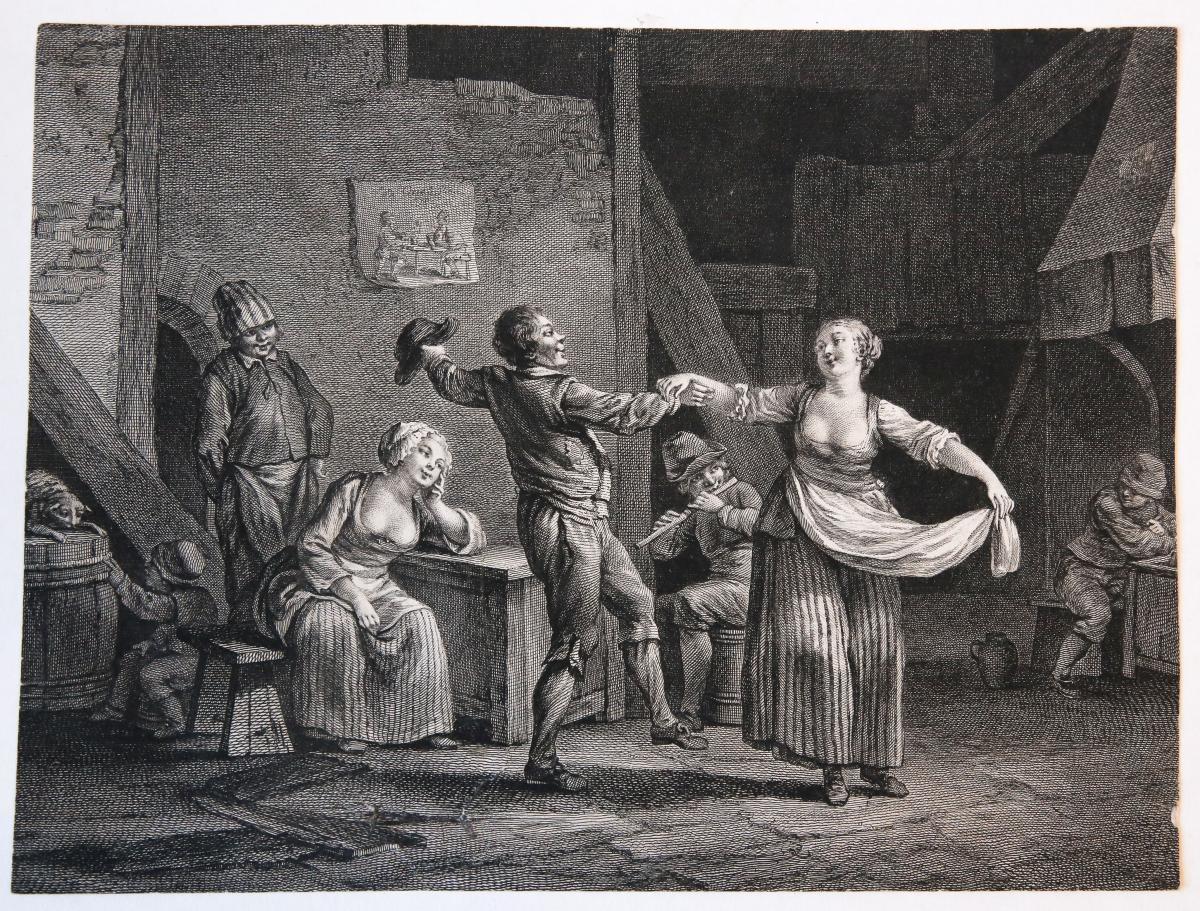 Peasants in an inn (boeren in een herberg).