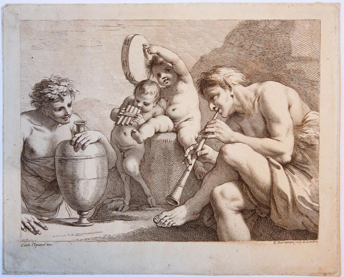 Satyrs making music (satyrs maken muziek).