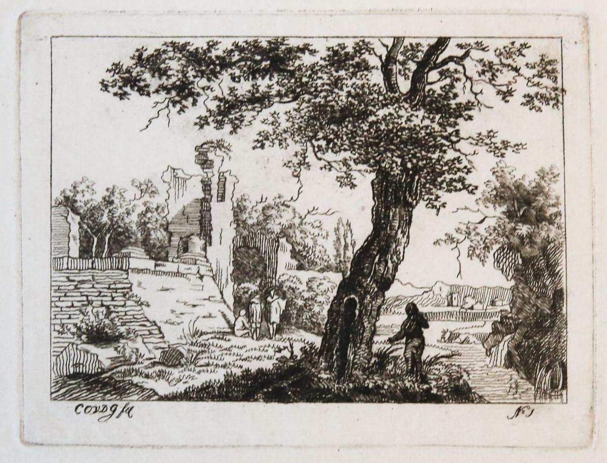 Landscape with ruins and a tree (ruine en boom)