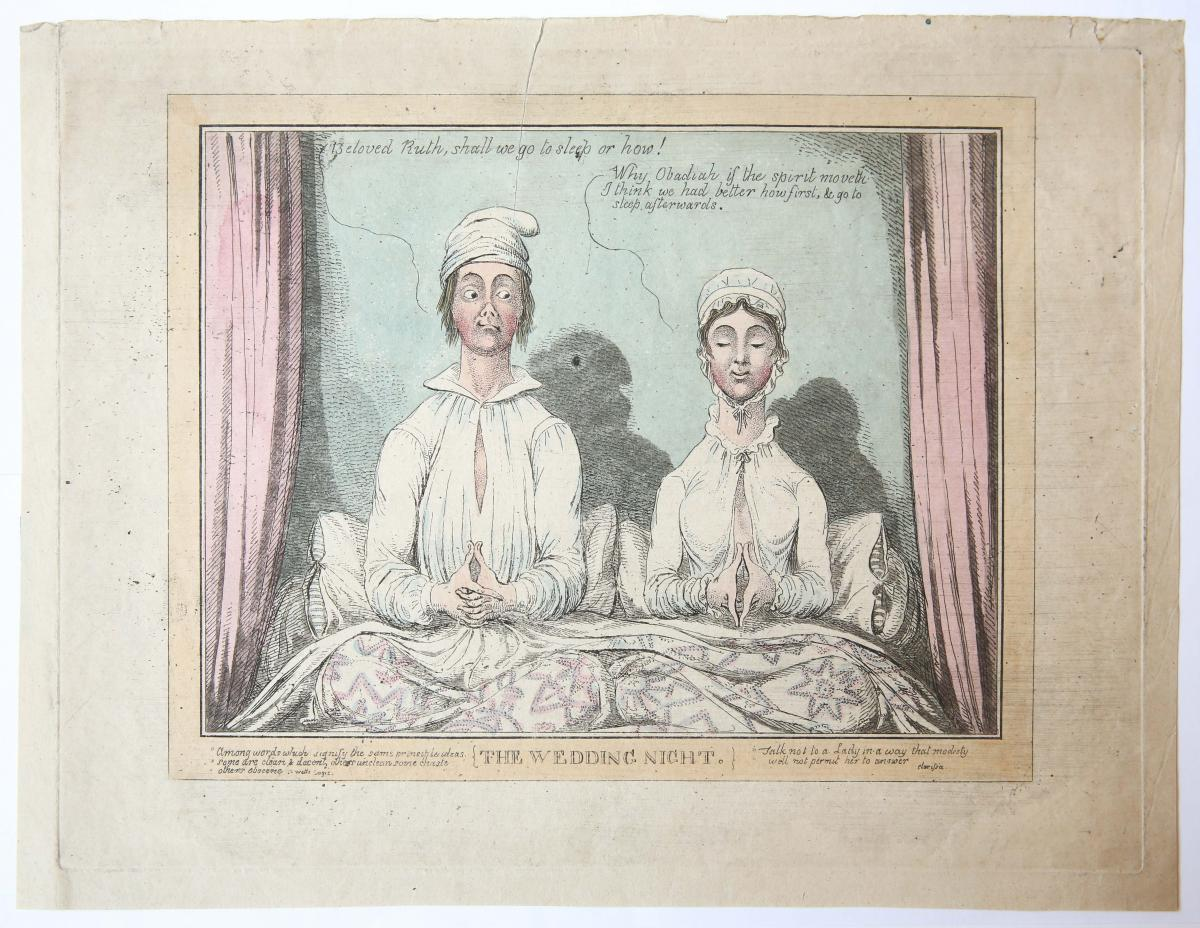 The Wedding Night [satirical print].