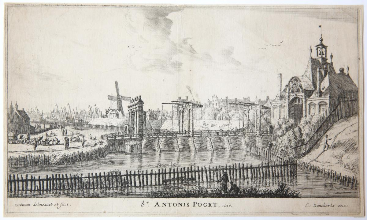 ST ANTONIS POORT 1636 [set title: Town Gates of Amsterdam].