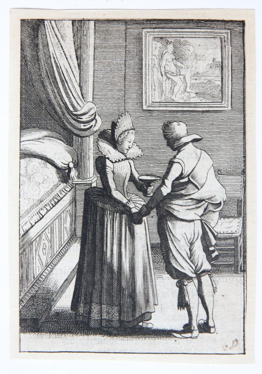 The enchanted suitor [from set: GEBRAND ADRIAENSZ BREDERO: Alle de Spelen, 1622].