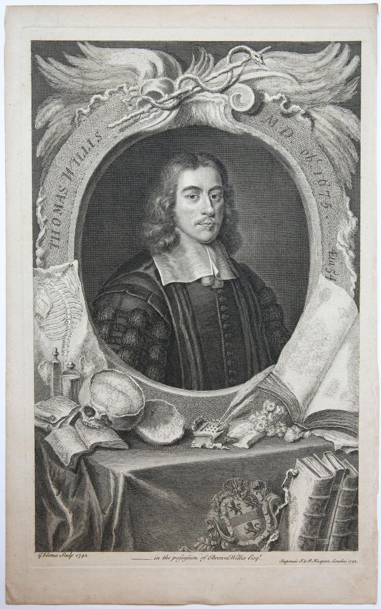 THOMAS WILLIS (portrait of) (Portret van Engelse arts Thomas Willis).