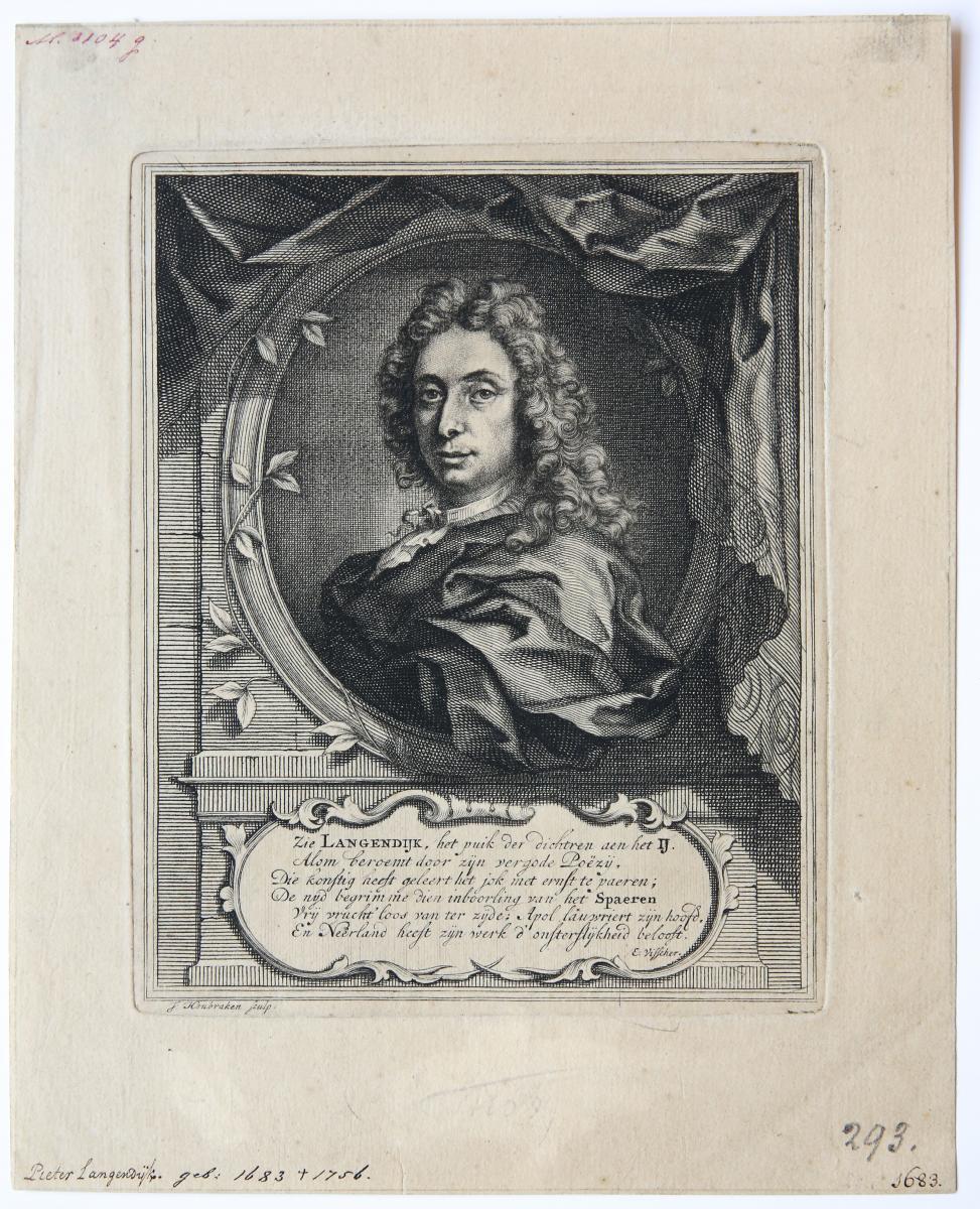Portrait of Pieter Langendijk (tekenaar Pieter Langendijk).
