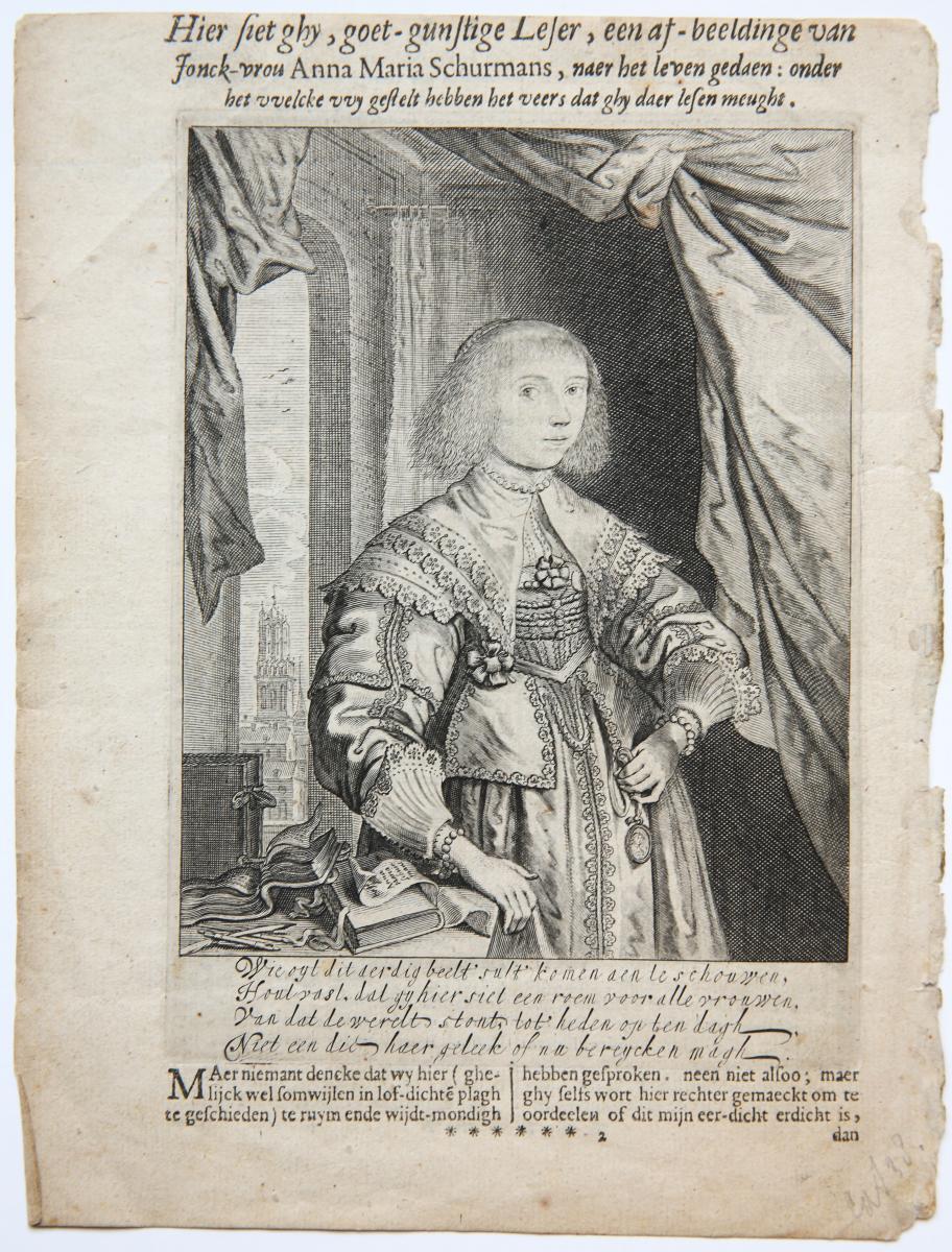Portrait of Anna Maria van Schurman (Anna Maria Schuurman).