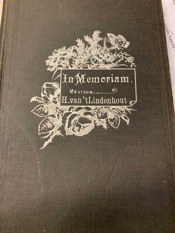 ( BRINK, V.D. ), In Memoriam Mevrouw H. van 't Lindenhout geb. Sipman 1836-1900