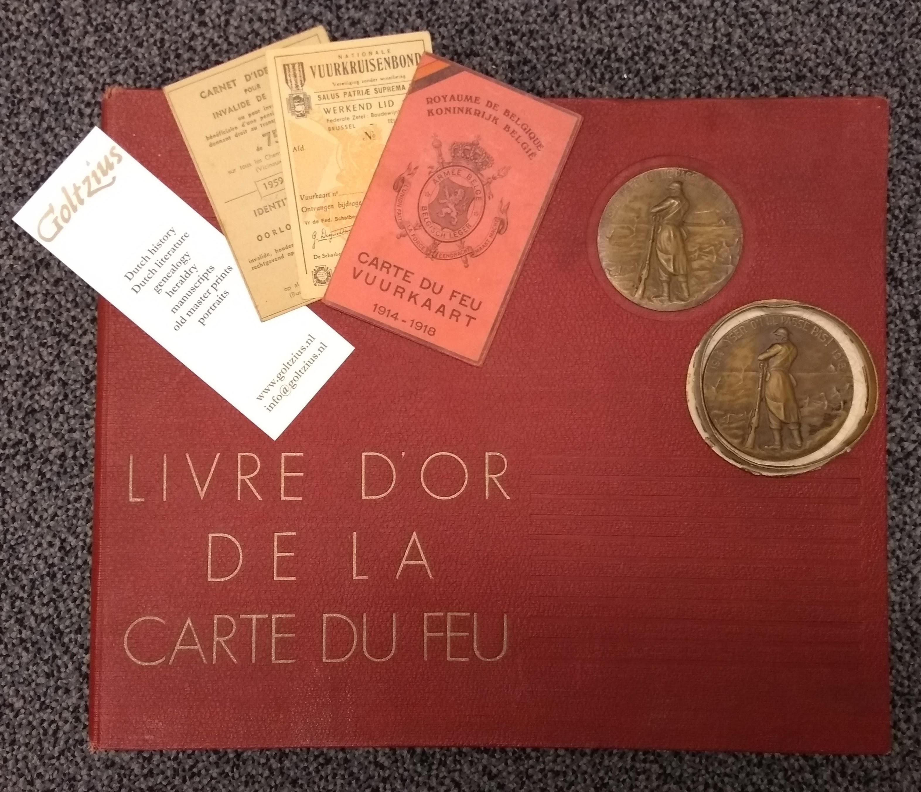 Livre d'or de la Carte de Feu of Marcel H.G. Grenier