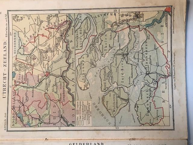 BOS, R., Atlas der Geheele Aarde in 44 Kaarten en vele bijkaarten door R. Bos