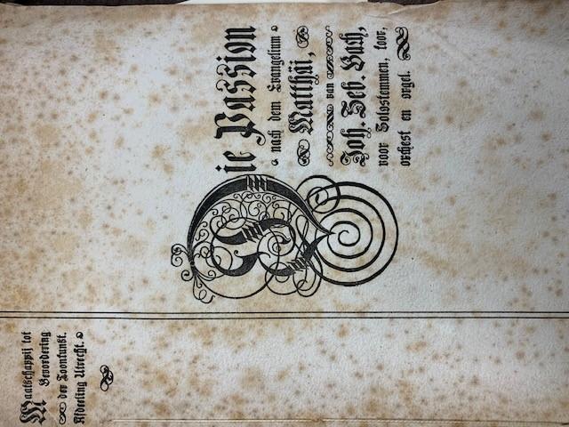 Matthaus Passion, Uitvoering onder leiding van den heer Richard Hol op dinsdag 3 april 1900 te Utrecht