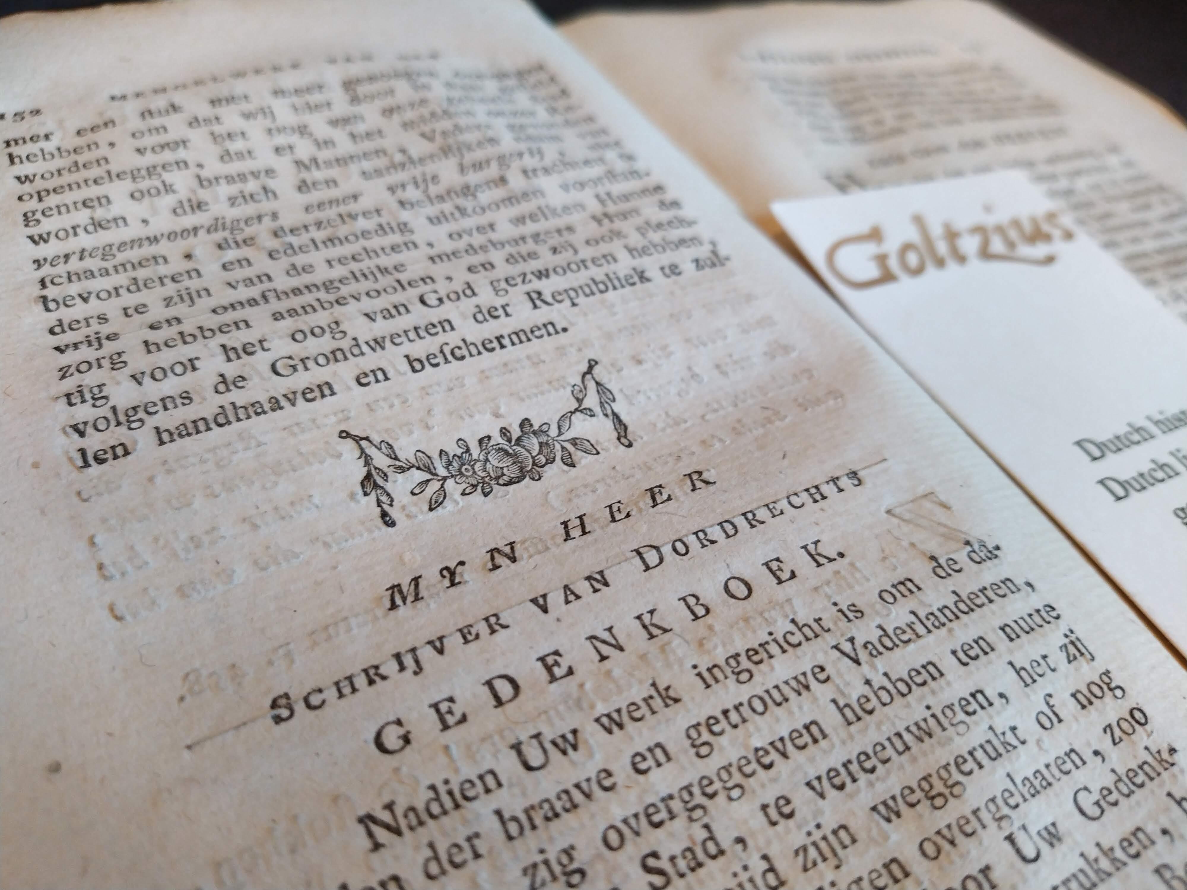 Mengelwerk van het Dordrechts gedenkboek