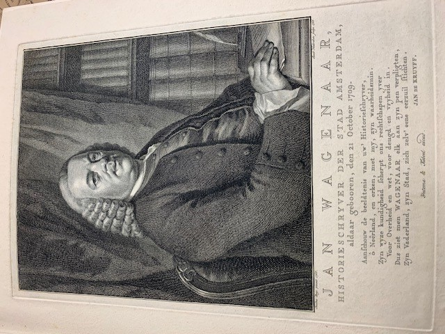 HOUBRAKEN, J., Jan Wagenaar, historieschryver der stad Amsterdam, aldaar gebooren, den 21 October 1709.