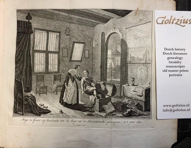 FOKKE, S., Hugo de Groot zig bereidende tot de vlugt uit de Loevesteinsche gevangenis, in 't jaar 1621
