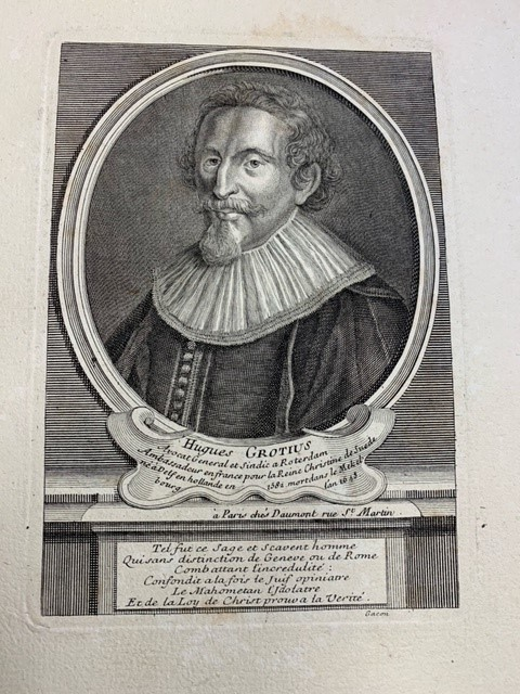 - Hugues Grotius, Avocat General et sindic a Rotterdam (...), portrait of Hugo de Groot.
