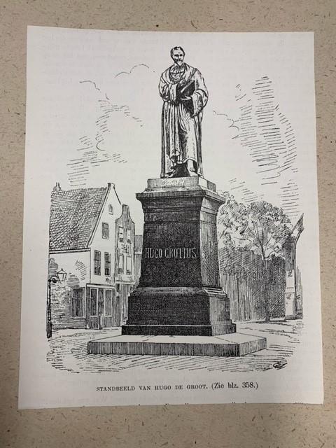Hugo de Groot, statue of Hugo de Groot by F.L. Stracke in Delft.