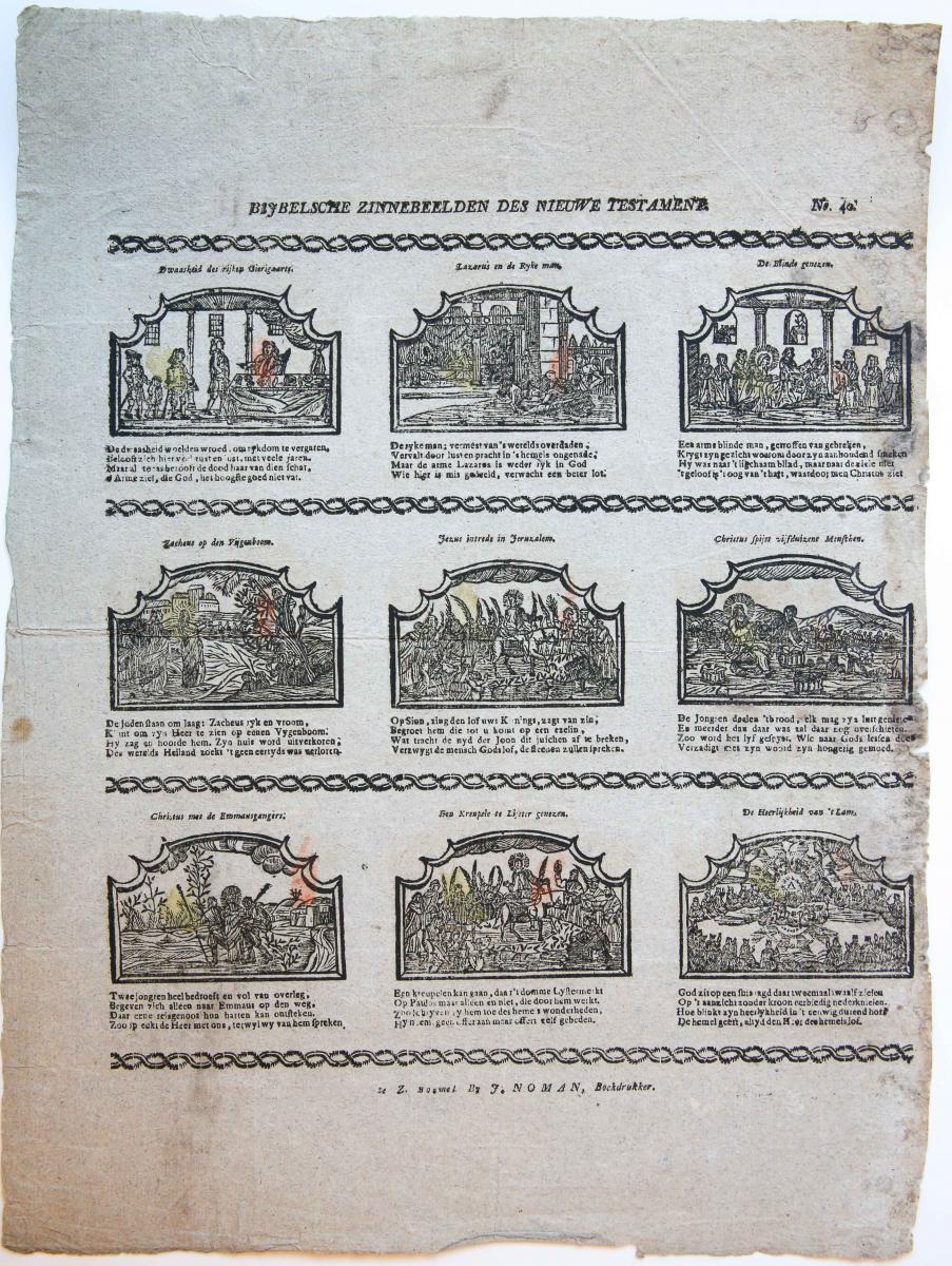 Centsprent: Bijbelsche Zinnebeelden des Nieuwe Testament, no. 29.