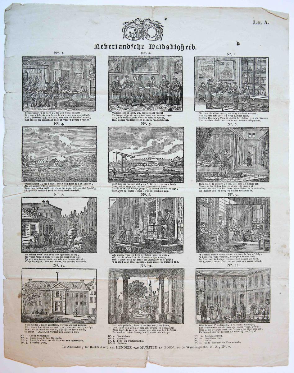 Centsprent: Nederlandsche Weldadigheid, Litt. A.