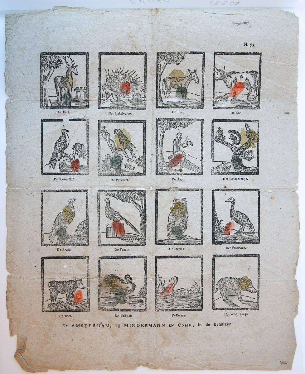 Centsprent: Various animals, N. 73.