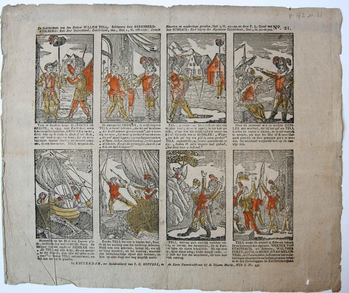 Centsprent: De Geschiedenis van den Zwitser Willem Tell, No. 21.