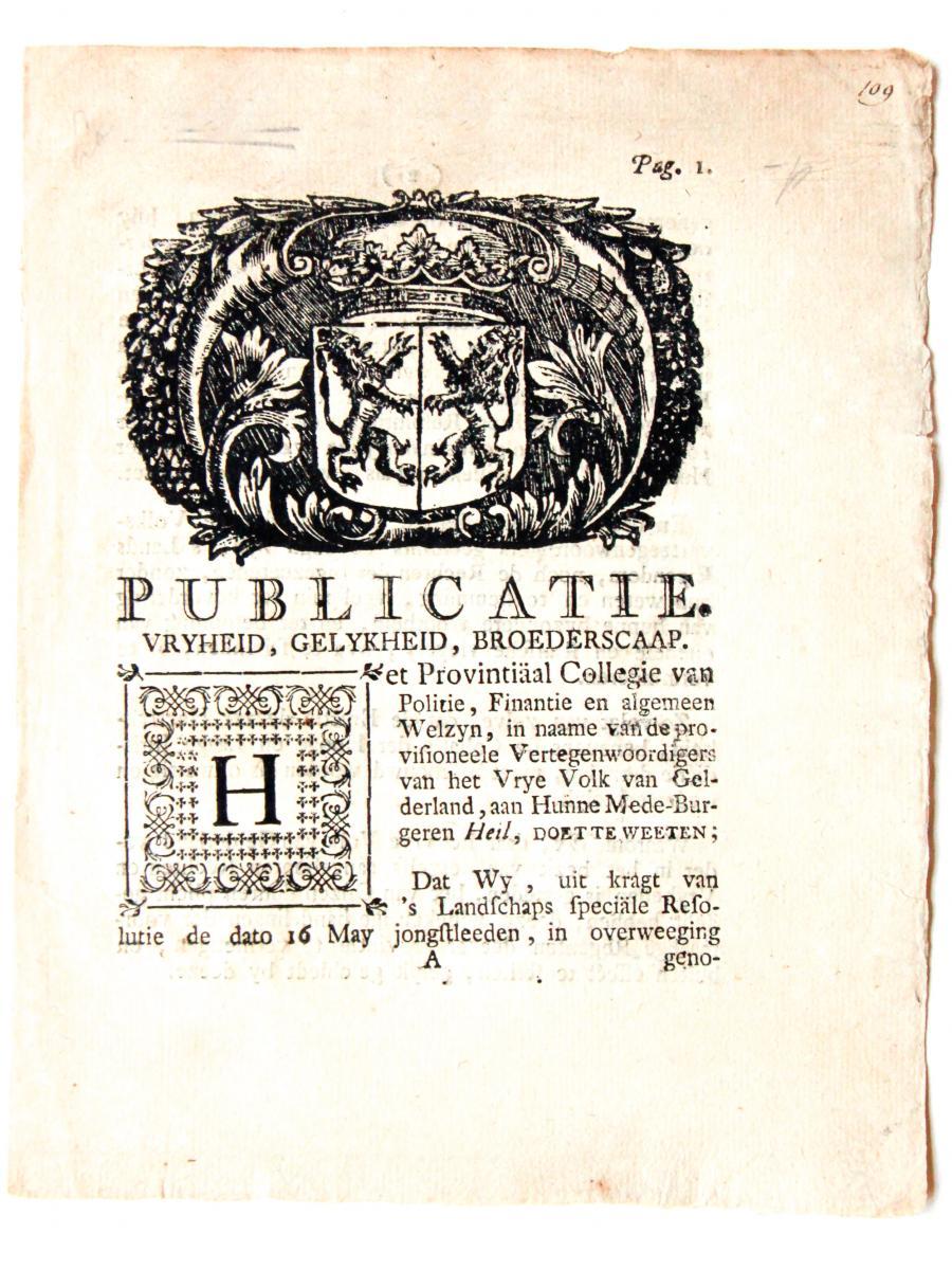 Pamphlet 't Loo 1795 (pamflet 't Loo).