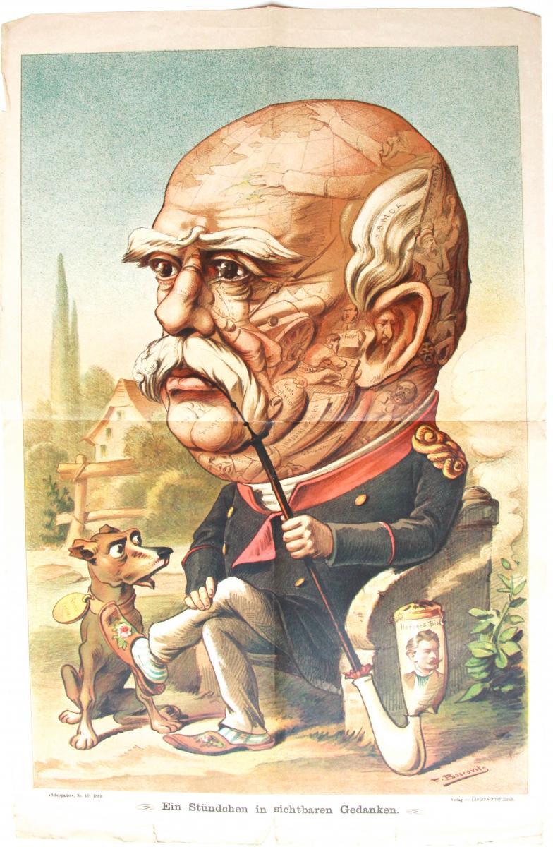 Satirical print of Bismarck and the case of Samoa.