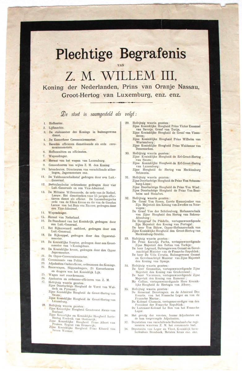 Funeral King Willem III.