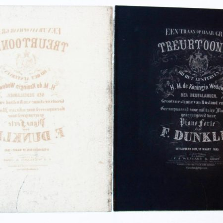Music sheet: 'Treurtoonen' 1865.