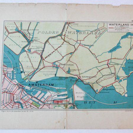 Maps of Amsterdam (vier plattegronden van Amsterdam).