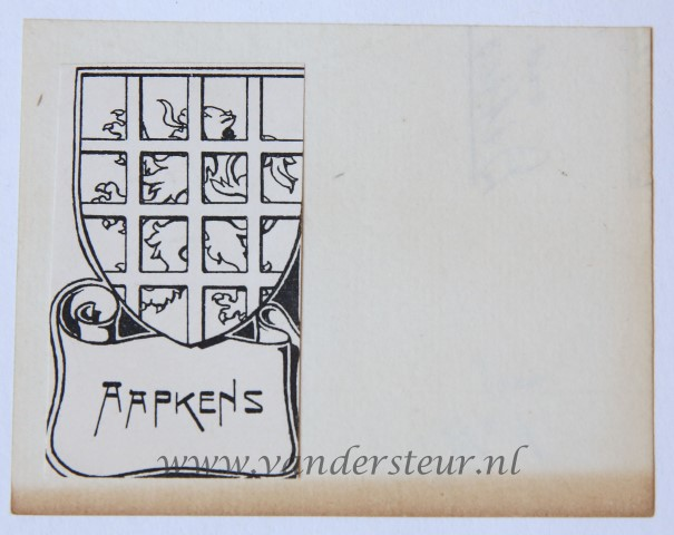Wapenkaart/Coat of Arms: Aapkens