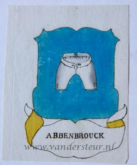 Wapenkaart/Coat of Arms: Abbenbrouck (Van)