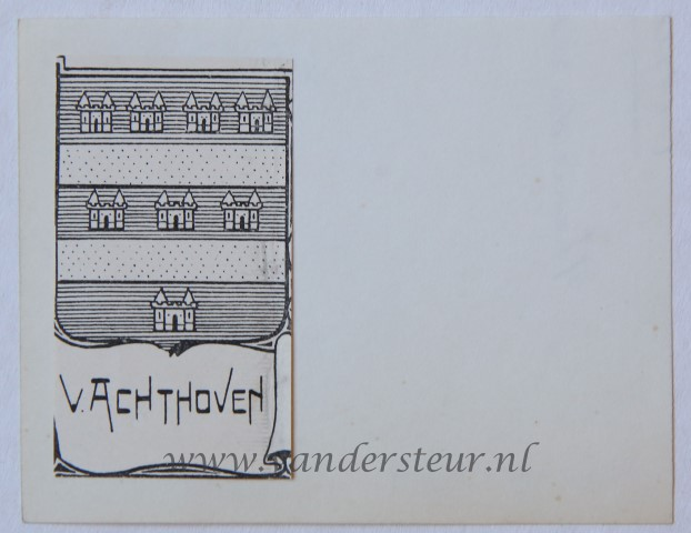 Wapenkaart/Coat of Arms: Achthoven (Van)
