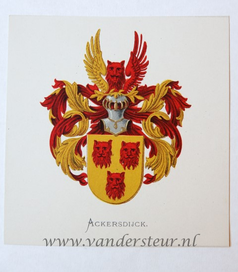 Wapenkaart/Coat of Arms: Ackersdijck
