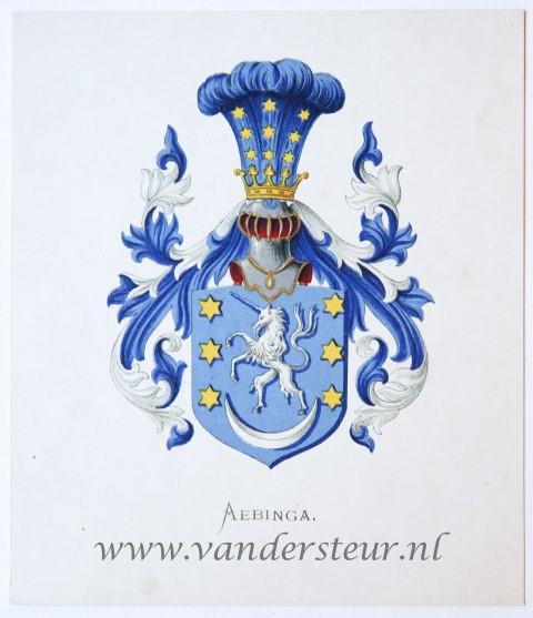 Wapenkaart/Coat of Arms: Aebinga