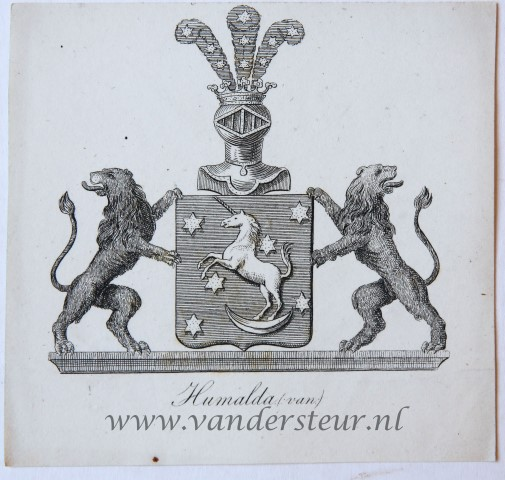 Wapenkaart/Coat of Arms: Humalda (Van)