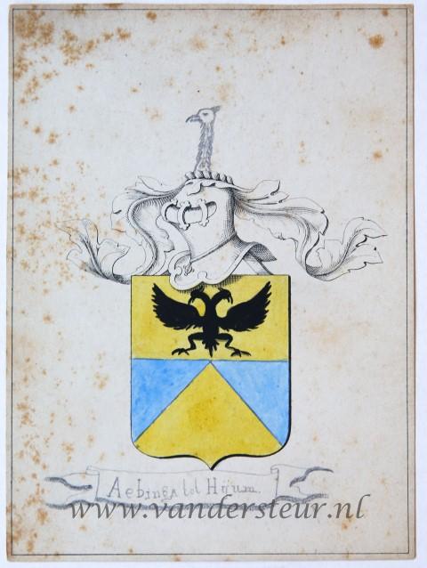 Wapenkaart/Coat of Arms: Aebinga tot Huym