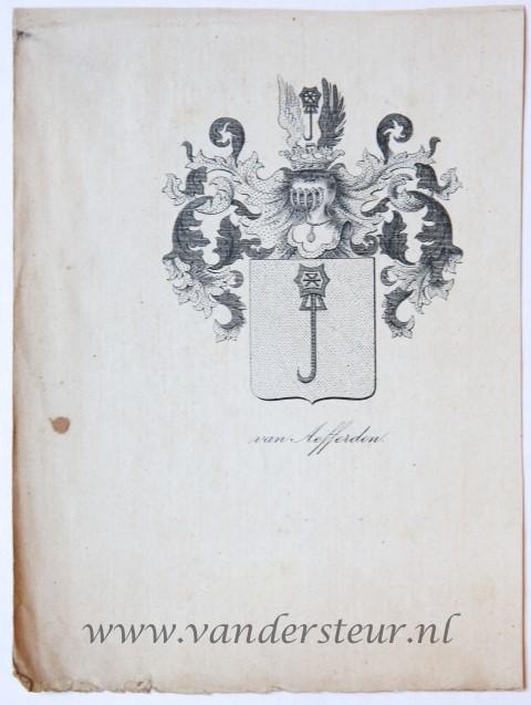 Wapenkaart/Coat of Arms: Aefferden (Van)
