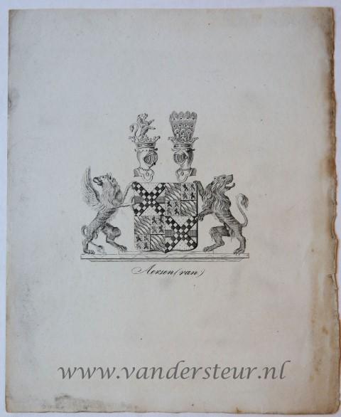 Wapenkaart/Coat of Arms: Aerssen Beijeren (Van)