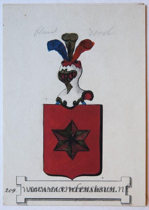 Wapenkaart/Coat of Arms: Aggama van Witmarsum
