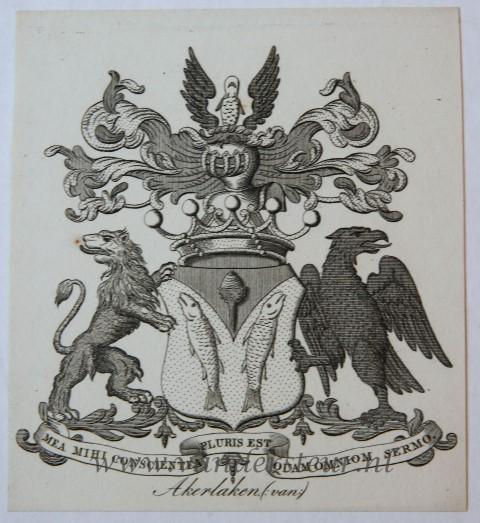 Wapenkaart/Coat of Arms: Akerlaken (Van)