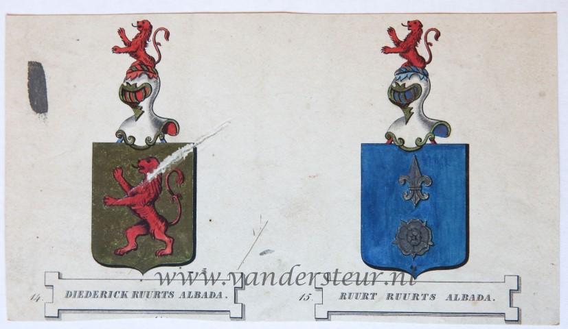 Wapenkaart/Coat of Arms: Albada (Diederick Ruurts)