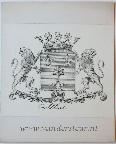 Wapenkaart/Coat of Arms: Alberda