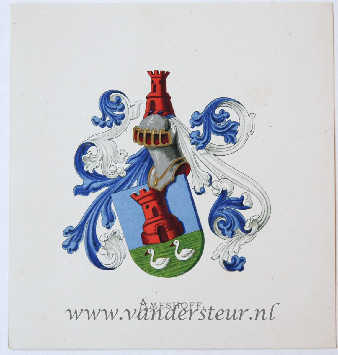 Wapenkaart/Coat of Arms: Ameshoff