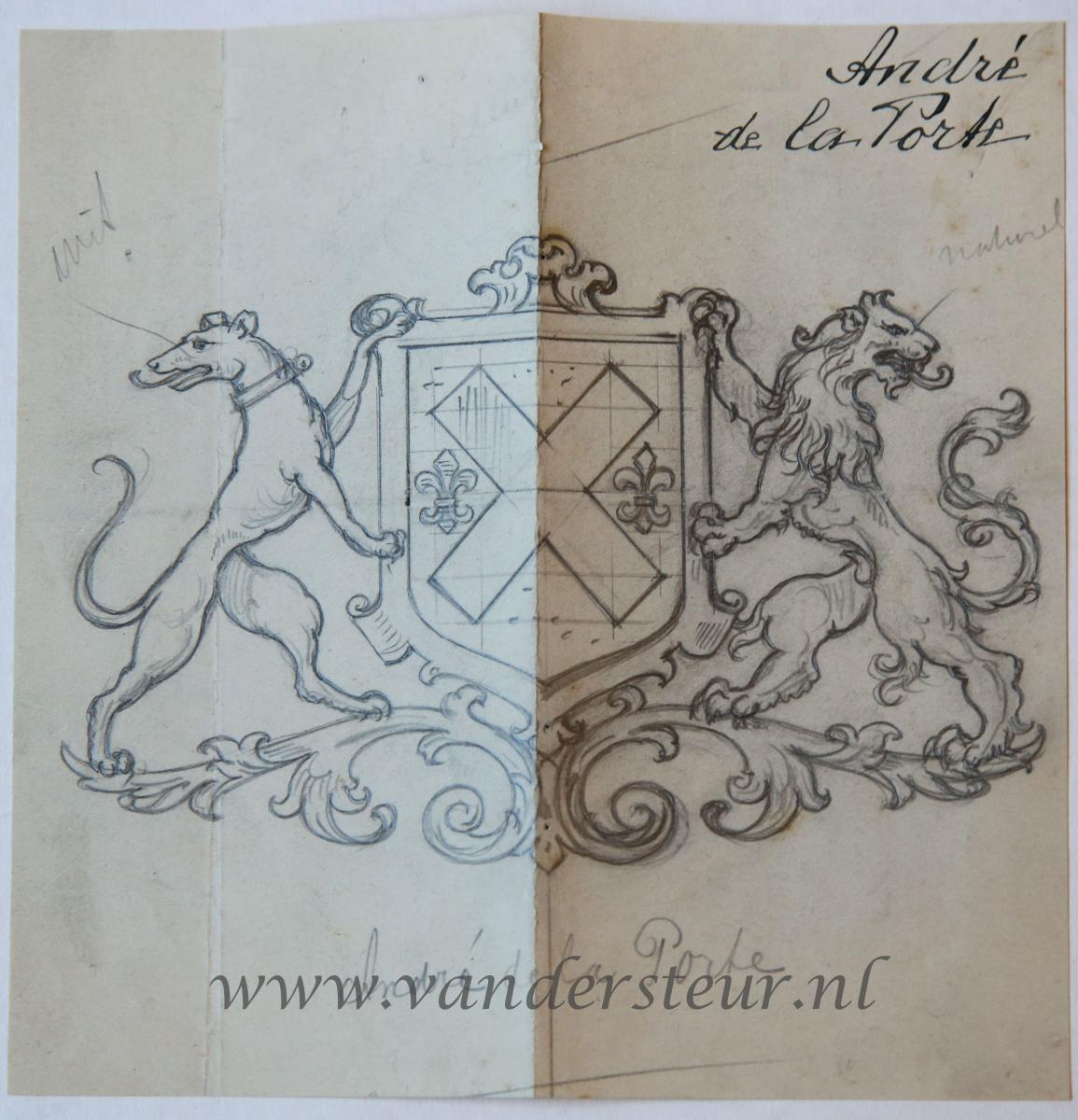 Wapenkaart/Coat of Arms: Andre de la Porte