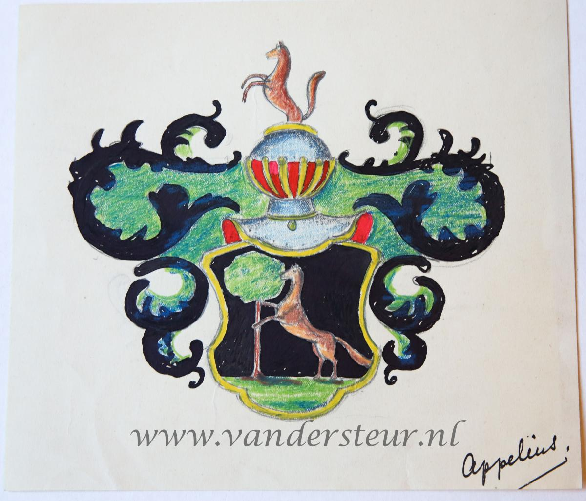 Wapenkaart/Coat of Arms: Appelius